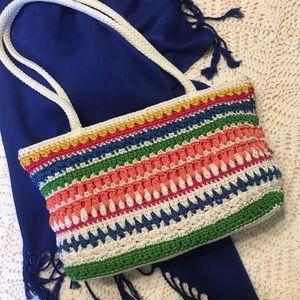 The SAK Vintage 🌈 Rainbow Crocheted Bag